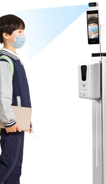 Free Sample Factory Face Recognition Thermometer Automatic Hand Liquid Soap Dispenser Gel Hand Sanitizer Dispenser Stand
