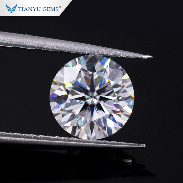 Tianyu Gems 3 Excellent Cut 3.5MM Hearts And Arrows Sparkling Moissanite <strong>Diamond</strong>