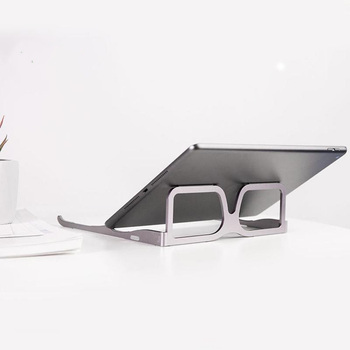 2020 New glasses c-reative modeling aluminum alloy laptop stand tablet holder