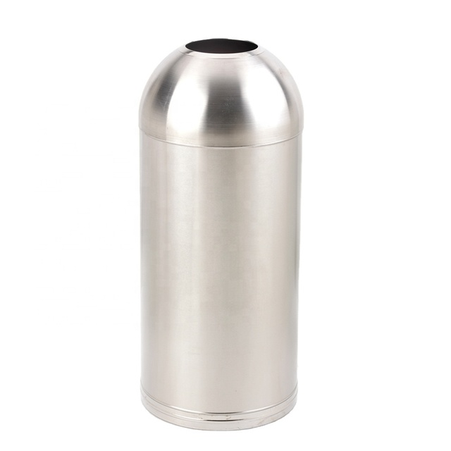 Full Collection Stainless Steel Bullet Open Dome Top Trash Can/Garbage Container/Waste Bin/Dustbin