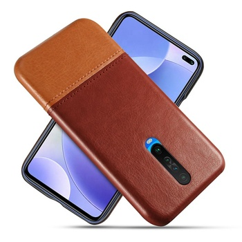 Best selling PU leather stitching dual color novel trendy original cell phone back cover cases for Xiaomi Redmi K30