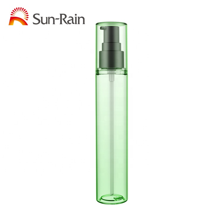 wholesale custom clear plastic  liquid soap body cream care 100ml lotion pump bottle