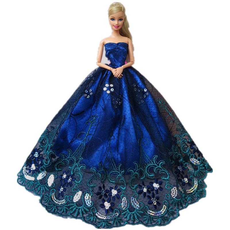 Оригинальная одежда для платья Барби, аксессуары для принцесс, одежда для свадебного платья Барби, вечерние платья bjd 1/6, игрушки куклы(Китай)