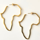 Stainless steel map earring custom african map earrings hoop for women