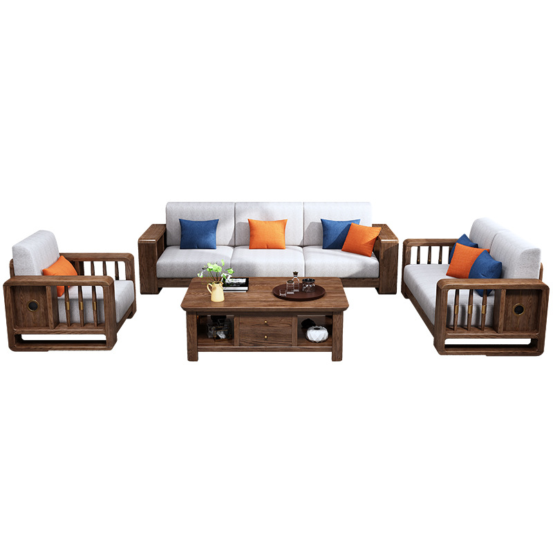 product-Shaped Sets Sectional Model Wood Chair Drawing Room Set Oak Solid Frame White Nepal Furnitur-1
