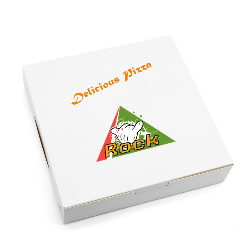 Desain Kustom dan Cetakan Kertas Papan Gading Kotak Pizza 6 Inci Putih
