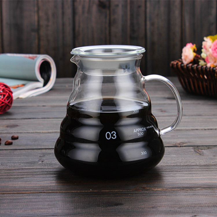 Carafe Pour Over Glass Coffee Maker Glass Sharing Coffee Pot