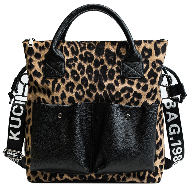 Osgoodway2 leopard print large capacity ladies tote bag luxury leather trendy handbags for women