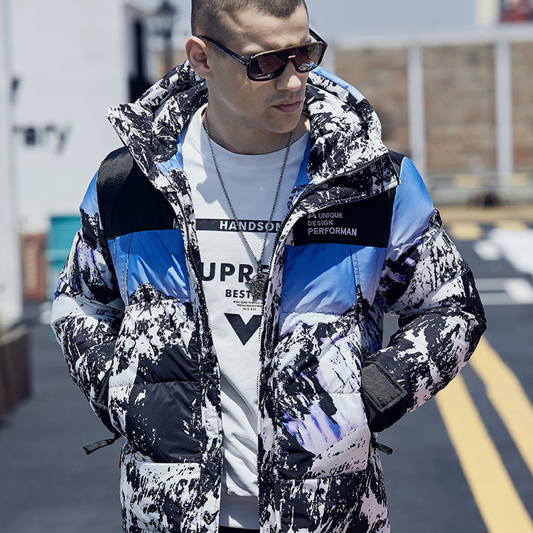 Man <strong>Winter</strong> Digital Camouflage Printing Outdoor Softshell Waterproof <strong>Jacket</strong> Coat Hooded Bubble Down <strong>Jacket</strong> <strong>Men</strong>