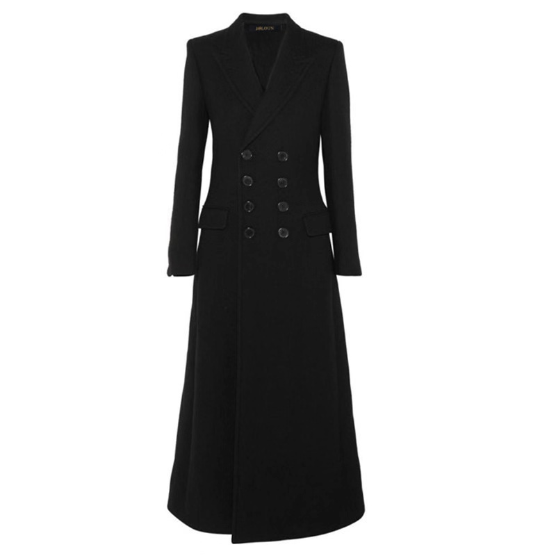 New Fashion Ladies European Women Long Winter Wool Coats