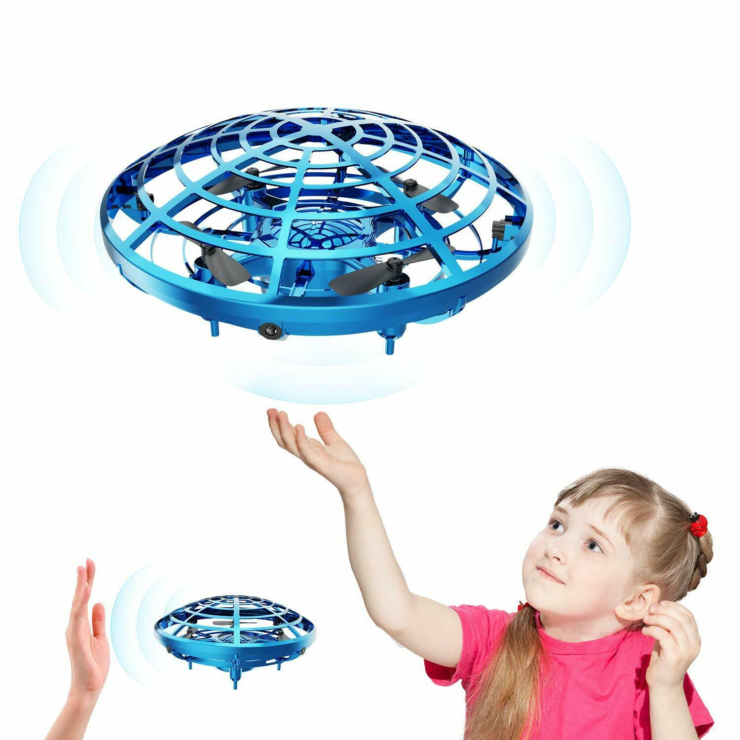Smart Ufo Remote Hand Operated Control Flying Ball Helicopter Quadcopter Toys Mini Drones For Kids