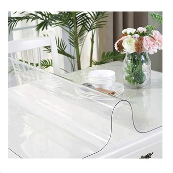 Thick Crystal Clear PVC Table Protector plastic table cover
