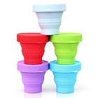 Outdoor High Quality Custom Silicone Collapsible Coffee Cup Retractable Foldable Coffee Cup Silicone Cup For Travel
