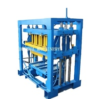 Qt4-30 Diesel Engine Concrete Block And Interlocking Brick Making Machine With Hydraulic Station