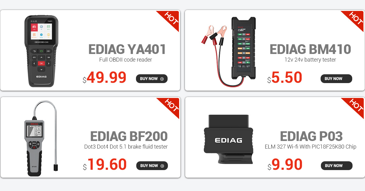 Ediag P01 V1.5 Wifi with PIC18F25K80 obd2 elm327  for Android/IOS  Elm 327 scanner car OBD II
