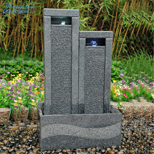Granit stein wand <span class=keywords><strong>wasser</strong></span> <span class=keywords><strong>brunnen</strong></span> mit LED