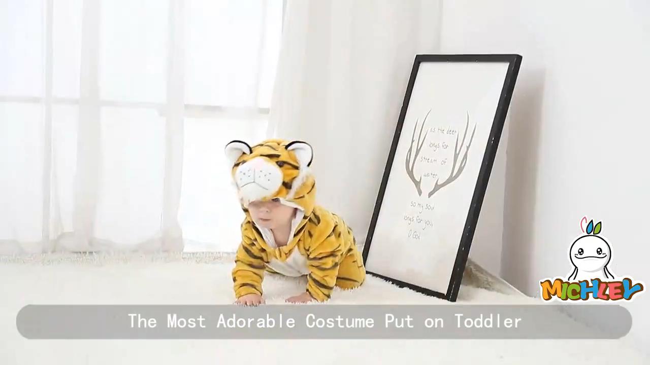 Piyama Hewan Bayi/Bulu Domba Musim Dingin, Baju Monyet Bayi Lucu