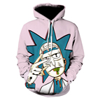 Breathable Sweatshirts Mens Hoodie Sweatshirt Urban Streetwear Rick and Morty Hoodie Printed Hoodies Sweatshirts with Hood Street Style Mens