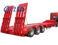 Utility 2-5 axle gooseneck lowboy low loader low bed semi trailer and truck used for sale
