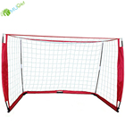 Portable Soccer Goals Goal YumuQ Portable 12' X 6' Square Soccer Goals Folding Soccer Goal Nets For Kids And Adult Soccer Training Equipment