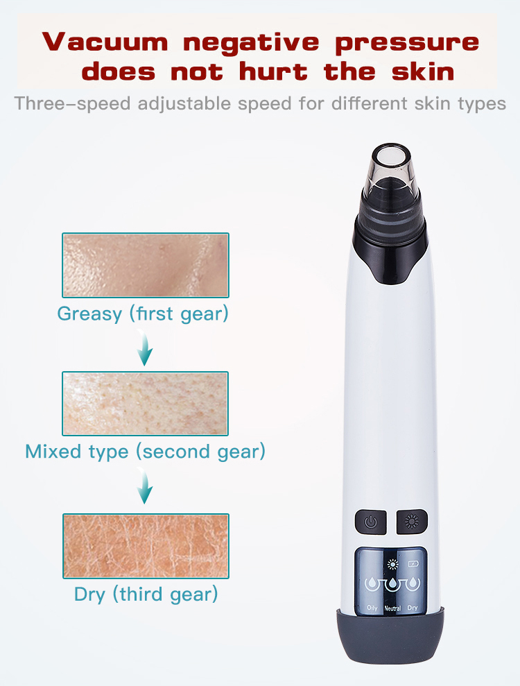 プライベートラベルメーカー顔の皮膚スクラバーにきびステンレスにきびにきびリムーバー真空
