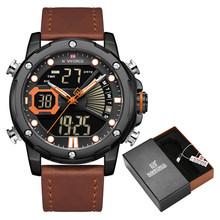 Мужские часы Топ люксовый бренд NAVIFORCE модный двойной дисплей Кварцевые часы Мужские Аналоговые цифровые водонепроницаемые часы Relogio Masculino(Китай)