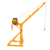 Factory Supply 2 ton portable mobile shop crane made in China