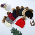 Pom Winter Hats For Women Warm Knitted Skullies Plus Velvet Beanies Outdoor Ski Cap Mens Bonnet Stocking Hats