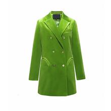 Женский двубортный Блейзер TWOTWINSTYLE, осенний пиджак с длинным рукавом и отложным воротником, с карманами, 2020(Китай)