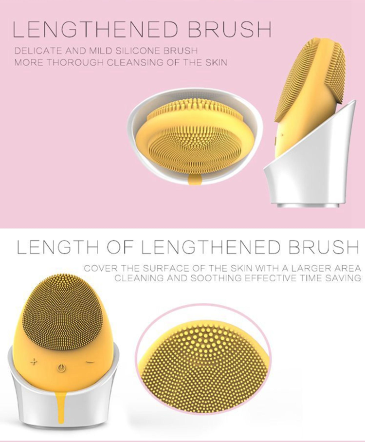 hot selling JSfb32 mini electric ultrasonic sonic cleaning silicone facial face cleansing cleaner brush device