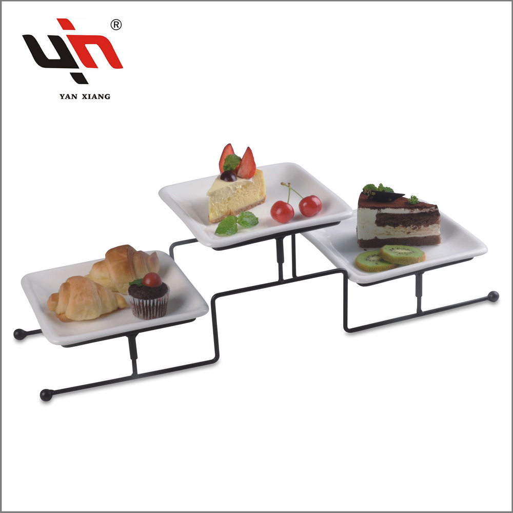 BBQ Serving Tray Ceramic plates on Stand New design Yanxiang porcelain