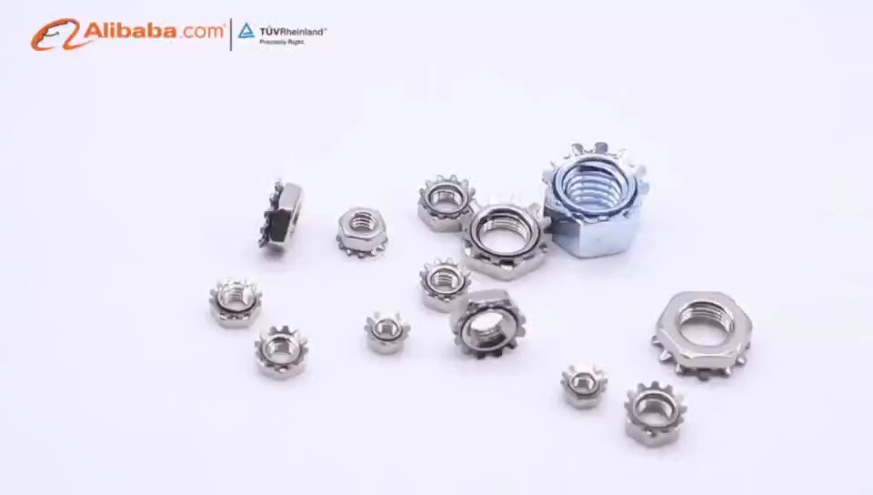 The high quality  stainless steel M3x0.5 m10x1.25 flange lock nut