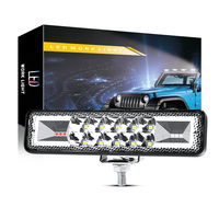 DXZ Car LED work light 6-inch 16LED flashing left and right daytime running lights auxiliary lights modified lights