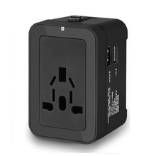 Rrtravel Universal Travel <span class=keywords><strong>Adaptor</strong></span> All-In-One International Power Adapter dengan 2.4A 2USB Universal Travel <span class=keywords><strong>Adaptor</strong></span>