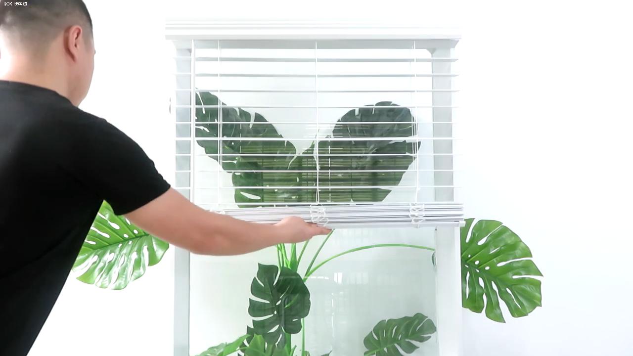 جميع أنواع 35/50 مللي متر الشرائح قابل للتعديل الأفقي فو نافذة خشبية الستائر الفينيسية