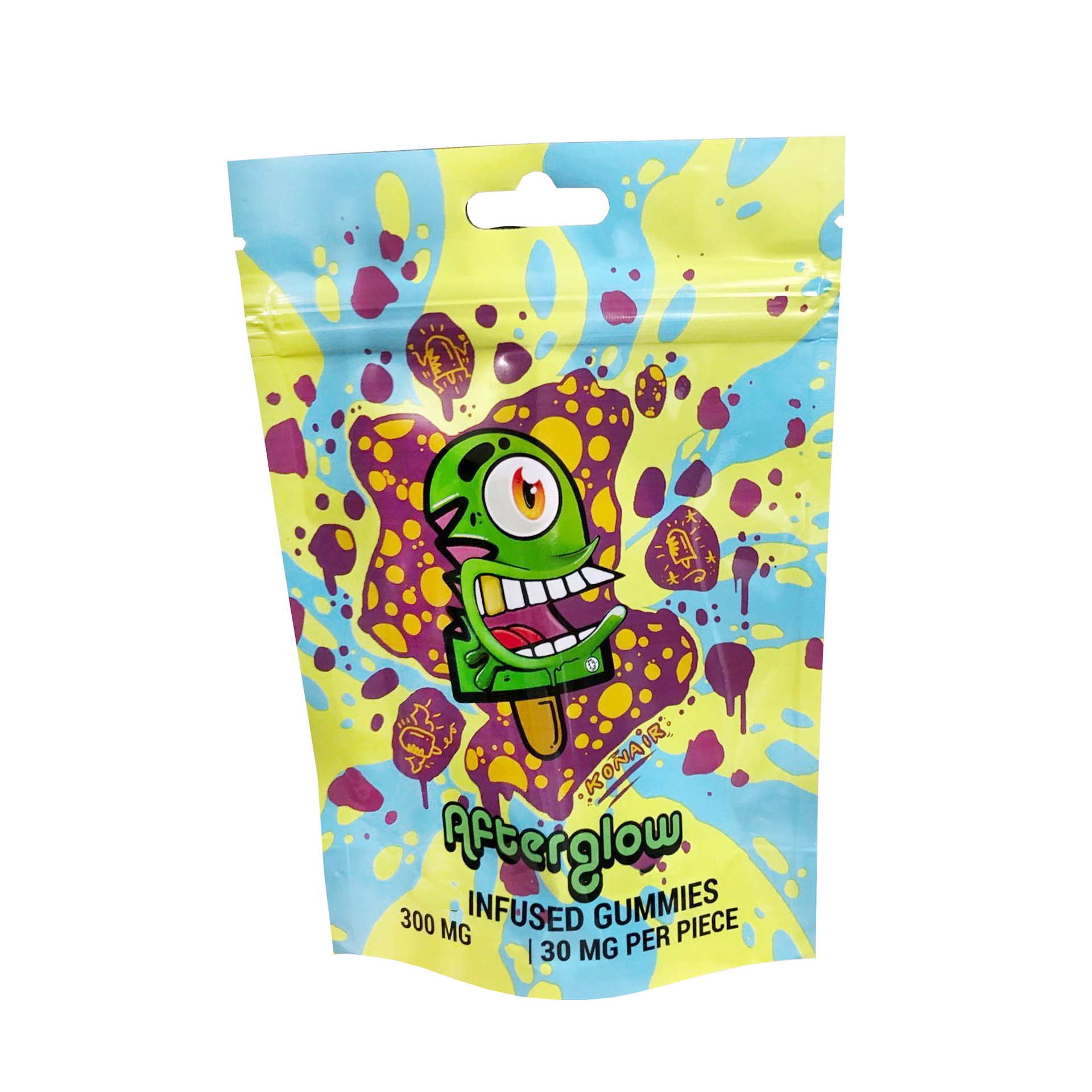ASTM-D3475 Custom Printed Black Mylar Foil Smell Proof Stand Up Plastic Dispensary Exit Bags Child Proof Bags