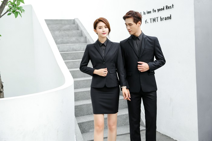 Customized  man and women simple business suit casual work suit