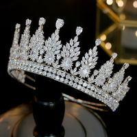 GS0003 New High Quality Shinning Full Zircon Prom Crown Headpiece Bridal Tiaras and Crowns Wedding