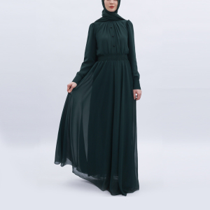 latest model chiffon fabric muslim women dress abaya for sale