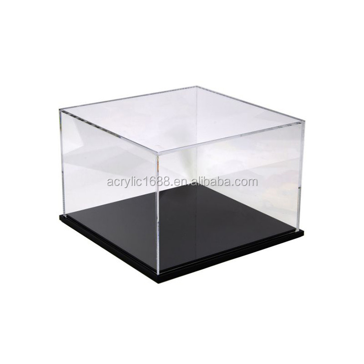 Customized acrylic toy car display case with black base
