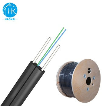 Communication Indoor Outdoor Low Friction Lszh Ftth Drop Fiber Optic Cable