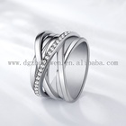 Engagement Diamond Rings Rings Latest Female Fashion Design Jewelry Luxury 316L Stainless Steel Engagement Diamond Rings