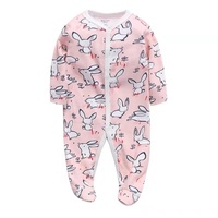 Hot sale Babies One Piece Clothing 100% cotton Romper Infant Footed Overall baby animal Pajamas
