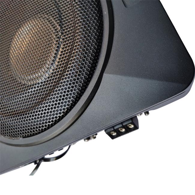 High Power Super Slim 8 Inch Subwoofer Under Seat Car Audio Active Subwoofer Amplifier