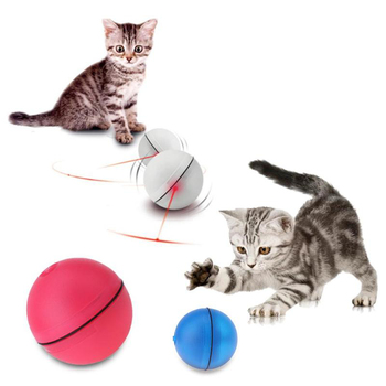 Creative Pet Jumping Ball Electric Pet LED Rolling Flash Ball Funny Toy Home Pet Dog Cat Interactive Laser Ball