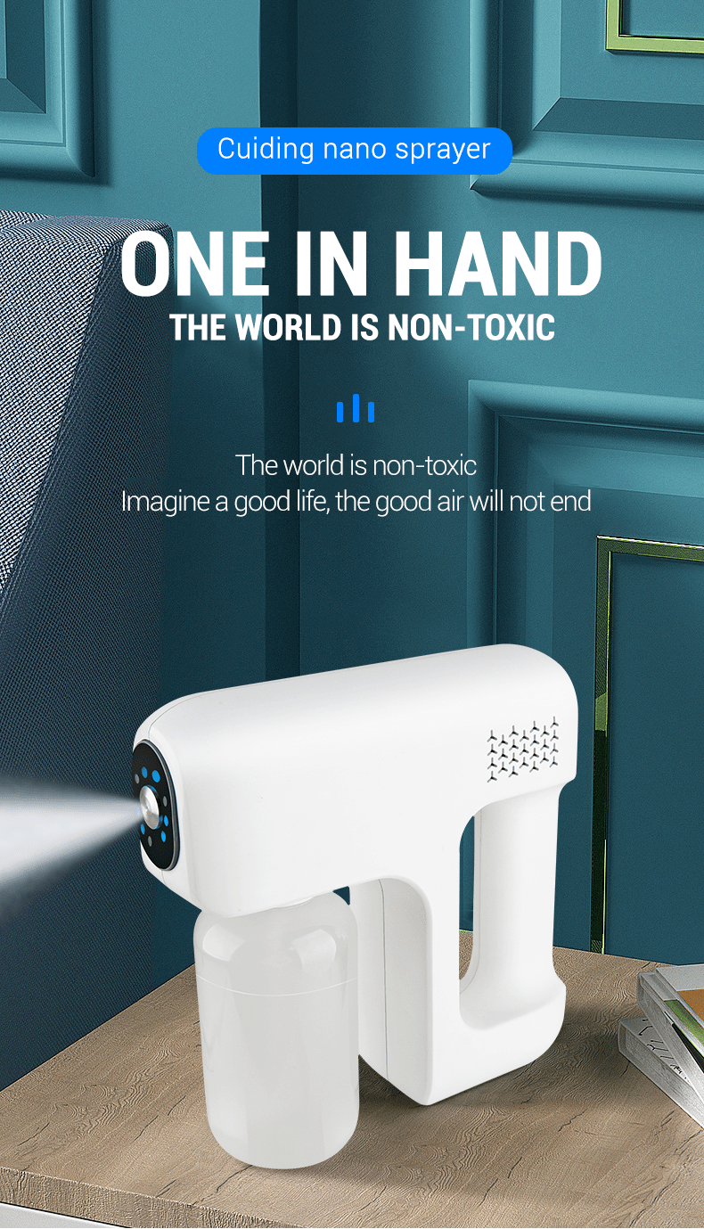 new 25w big power home portable Wireless mini blue lighting nano electric atomization sterilize disinfection Nano Spray Gun