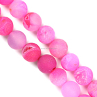 gemstone beads natural agate dyed pink color with druzy rounds many colors