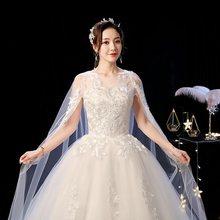 It's YiiYa свадебное платье es размера плюс Элегантное свадебное платье с круглым вырезом кружевное 2020 размера плюс шаль Поезд Vestido de novia XXN237(China)