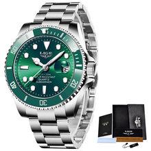 LIGE Top Brand Luxury Fashion Diver Watch Men 30ATM Waterproof Date Clock Sport Watches Mens Quartz Wristwatch Relogio Masculino(Китай)