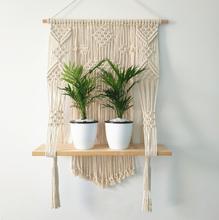 per decorare la casa bianco da appendere alla parete con corda graziosa corda altalena Mensola da parete in stile nordico
